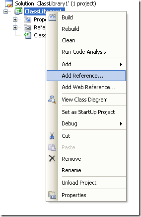 Context Menu to add a reference